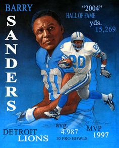 Barry Sanders | Barry Sanders, Hall of Fame, Running backs