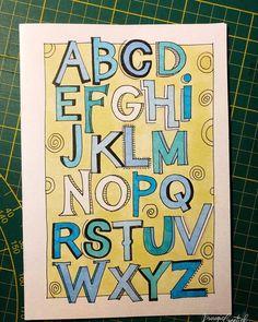 53 vind-ik-leuks, 1 reacties - Krougie Creatief (@krougiecreatief) op Instagram: 'Een alfabet met diverse schaduwmanieren voor @gon.lineke Vandaag de laatste les van de 10-delige…'