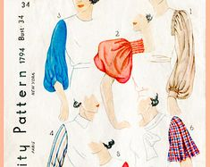 Alte Schnittmuster 1930er Jahre 30 s Ärmel von LadyMarloweStudios