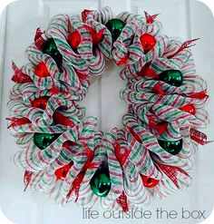 Christmas Deco Mesh Wreath Tutorial