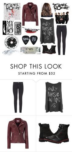 """MCR concert"" by mar-1397 ❤ liked on Polyvore featuring Paige Denim, Junk Food Clothing, IRO and Chrome"
