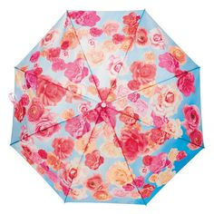 """Automatic push-button open with carry loop. 20½"""" diam. canopy; 8"""" L, closed. Includes storage sleeve. 100% polyester. Imported.<br><br>$3 of each umbrella sold will be donated to the Avon Breast Cancer Crusade.<br><br>Avon has raised more than $321 million for the Avon Breast Cancer Crusade through the sale of Avon Pink Ribbon products. Help support today! www.youravon.com/margidonaldson"""