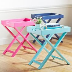 Need a pop of Color in your room? Try this Tray Table from Pottery Barn Teen