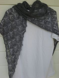 lace knit shawl supersoft grey silk/wool blend by DutchDaisyDesign, $75.00