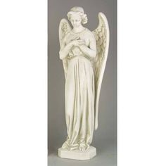 Angel Cari-Cross with Hands Crossed in Devotion Statue 25H