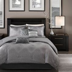 Madison Park Quinn Grey Bedding By Madison Park Bedding, Bed Sets, Comforters, Duvets, Bedspreads, Quilts