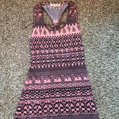 Cotton multi colored maxi dress Cotton multi colored maxi dress, navy and salmon, awesome back detail Dresses Maxi