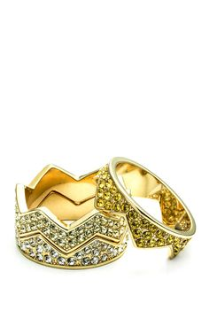 Ombre Pave Bear Trap Ring by Eddie Borgo