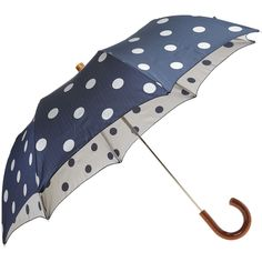 this would have been perfect if it rained on my wedding day - navy polka dog umbrella! Dog Umbrella, Folding Umbrella, Under My Umbrella, Yellow Umbrella, Cute Umbrellas, Umbrellas Parasols, Colorful Umbrellas, Brollies, Singing In The Rain