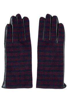 Photo 1 of Check Leather Gloves