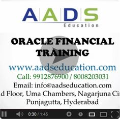 Oracle applications training online at AADS Education includes training in different application or business software provided by Oracle Corp