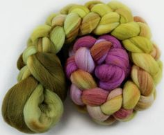 Orchid Citrine merino wool top for spinning and felting 3.9