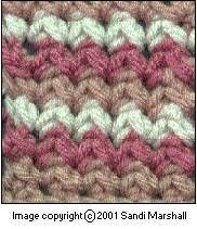 a crochet stitch that almost looks knitted- the pineapple stitch