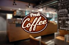cik968 Full Color Wall decal letter coffee shop showcase window