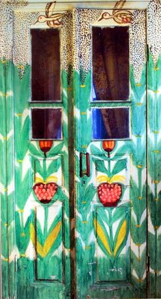 http://englishrussia.com/images/old_lady_house/13.jpg  From a senior citizen Russian woman from the Ukraine.  With a life full of hardships she overcame them & settled in a small village in the Ukraine.She lived all by herself in this house. She started painting on the walls to pass the time. She liked painting so much she used most of her retirement money to paint & turned her house into an art gallery.