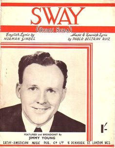 Sway broadcast by Jimmy Young Sheet Music for Piano /Voice 1954 half price offer