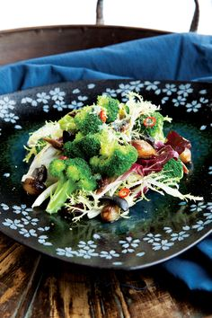 Warm Broccoli Salad with Roasted Onions and Chili Oil, alive.com