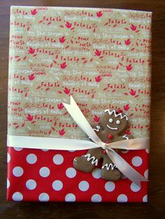 Half and half wrapping. Great idea for when you just quite don't have enough.