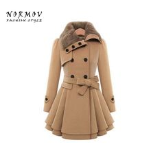 Shop now http://a-sheek-boutique.myshopify.com/products/normov-autumn-coat-women-2017-solid-color-thick-woolen-long-sleeves-double-breasted-cotton-belt-womens-jacket?utm_campaign=social_autopilot&utm_source=pin&utm_medium=pin A Sheek boutique new products.