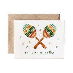 Birthday Card Spanish Friend Husband Boyfriend Feliz Cumplenaos