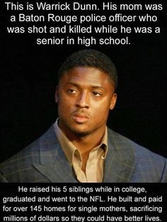 18 Heartwarming photos to restore your faith in humanity. Sweet Stories, Cute Stories, Warrick Dunn, Human Kindness, Touching Stories, Gives Me Hope, Black History Facts, Faith In Humanity Restored, Look Here