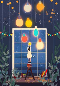 That just fits perfectly Christmas Decorations To Make, Christmas Art, Cute Illustration, Digital Illustration, Christmas Illustration Design, Cute Wallpapers, Wallpaper Backgrounds, Christmas Wallpaper, Aesthetic Art