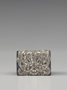 Embroidered Velvet Clutch by Marchesa Handbags ♥