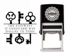 Self-Inking Personalized Address Stamp with Skeleton Keys from The Cute Kiwi