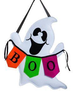 Boo Ghost Burlap Door Decoration