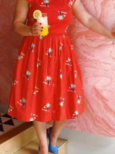 ac20a1ea8 Emily and Fin Unmatched Panache Midi Dress in Getaway Penelope Garcia,  Dapper Day, Pretty