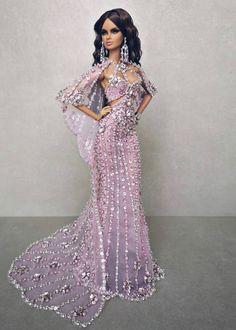 W Fine Porcelain China Diane Japan Barbie Gowns, Doll Clothes Barbie, Barbie Dress, Fashion Royalty Dolls, Fashion Dolls, Beautiful Barbie Dolls, Glamour, Looks Chic, Beautiful Gowns