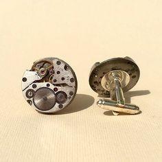 Handmade cufflinks made of the mechanisms of by DanuttaHandGallery