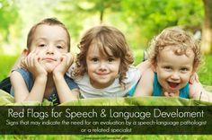 Red Flags for Speech & Language Development