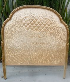 crazy about this idea of a Matelassé on a headboard nice change from the tufted