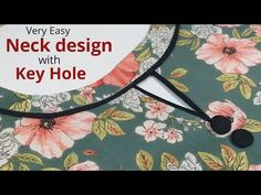 Design Discover Easy Boat Neck Design With Keyhole Cutting and Stitching / Neck Design Chudidhar Neck Designs, Neck Designs For Suits, Neckline Designs, Dress Neck Designs, Salwar Suit Neck Designs, Kurta Neck Design, Kurta Designs Women, Kids Dress Wear, Dresses Kids Girl