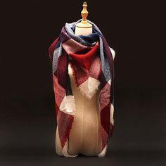 Za Winter Brand Cashmere Scarf Women Blanket Scarf Plaid Wraps long Scarf Women 2016 Pashmina Cashmere Shawls and Scarves tassel
