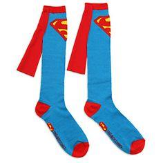 Superman Caped Socks