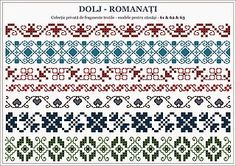 Ie Bistrita TRANSILVANIA - ROMANIA | Semne Cusute | Bloglovin' Folk Embroidery, Cross Stitch Embroidery, Embroidery Patterns, Knitting Patterns, Cross Stitch Borders, Cross Stitching, Cross Stitch Patterns, Romanian Lace, Beading Patterns