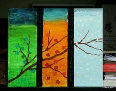 Three Seasons Tape Resist Art