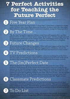 7 Great Activities for Teaching the Future Perfect.   Repin if you ❤ it!