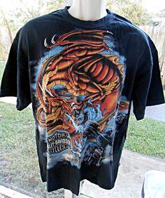 SMOKEY MOUNTAIN HARLEY DAVIDSON 100% Cotton Size XL T-Shirt Front & Back Graphic #HarleyDavidson #GraphicTee