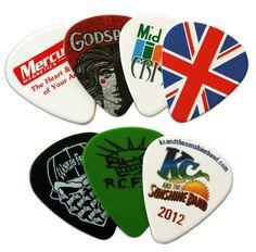 unusual guitar picks | Custom Printed Guitar Picks - from Precision Disc in Canada