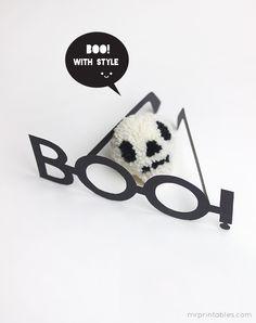 BOO! Halloween Typography Glasses - Mr Printables