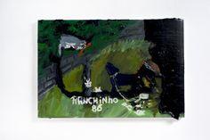 Rodrigo Andrade - 2012 |  Versão sobre a obra de Ranchinho Cão e Gato- 1986  |  Óleo sobre tela sobre mdf |  40 x 60 cm