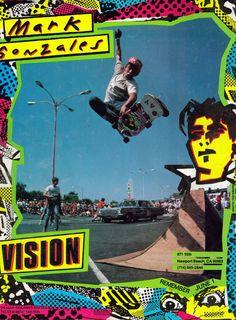 Vision Mark Gonzalez Vintage Ad