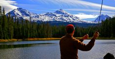 Fly fishing near the Three Sisters Wilderness Area Oregon