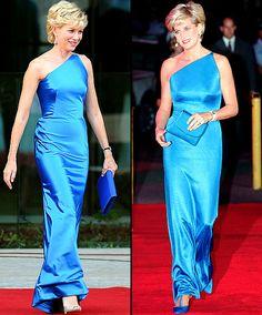 Naomi Watts as Princess Di in a gorgeous blue Versace gown