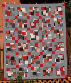Quilts of a Feather: Disappearing Nine Patch D9P