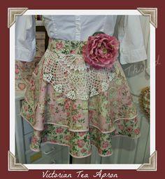 Victorian Tea Handmade half apron by mimisneedle on Etsy