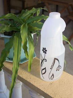 Regador pra a horta ou o jardim com reciclagem de galão de plástico